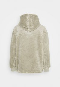 Weekday - ALEX PILE HOODIE UNISEX - Fleece jumper - sage green - 1