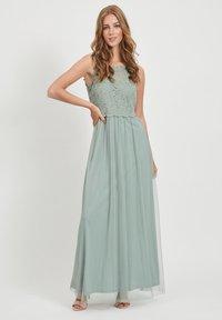Vila - VILYNNEA MAXI DRESS - Vestido de fiesta - green milieu - 1