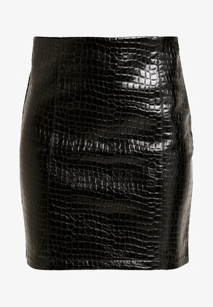 VICROCODILE SKIRT - Mini skirt - black