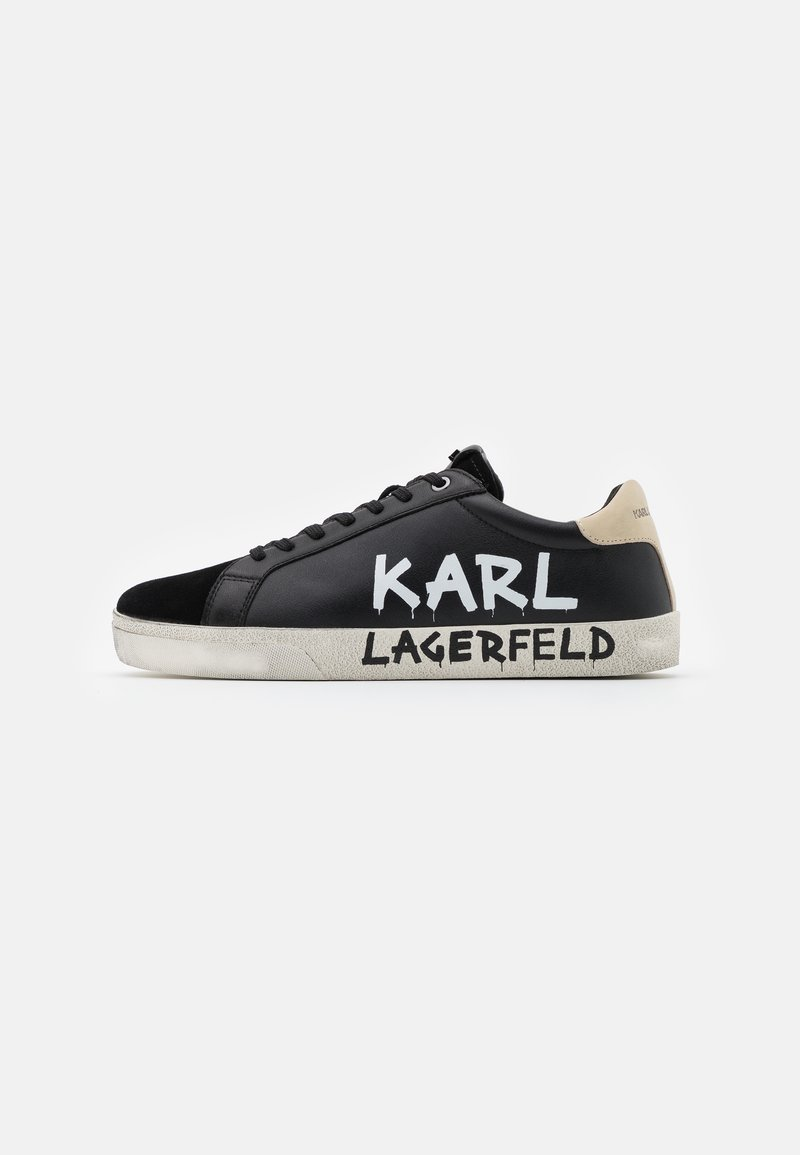 KARL LAGERFELD - SKOOL BRUSH LOGO LACE - Trainers - black