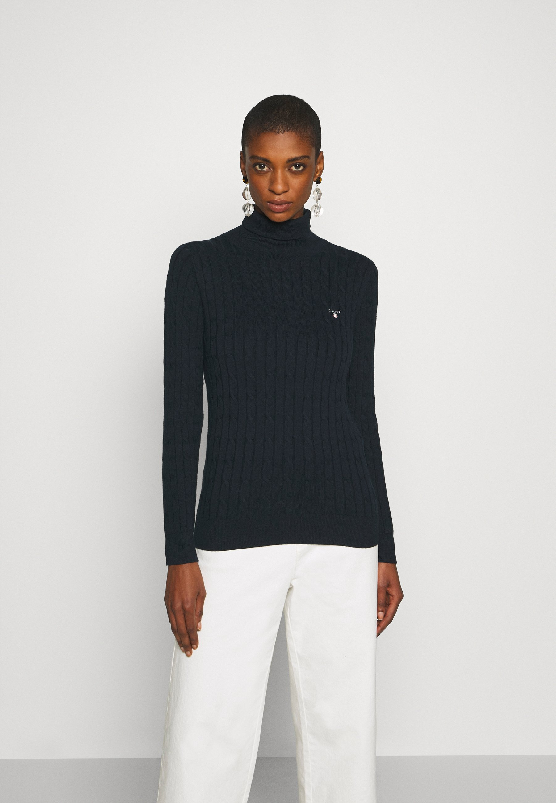 Women STRETCH CABLE TURTLE NECK - Jumper