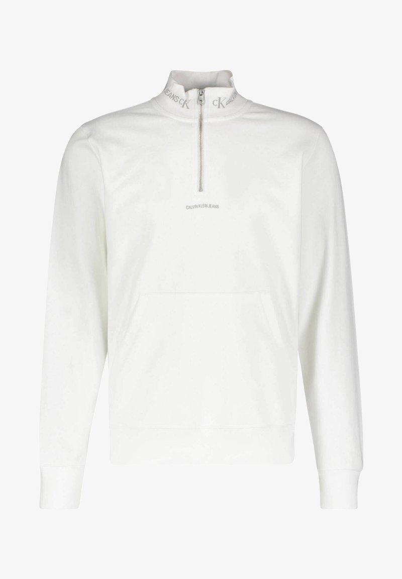 Calvin Klein Jeans - LOGO MOCKNECK UNISEX - Sweatshirt - weiss