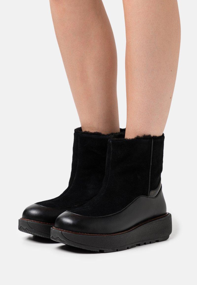 FitFlop - ELIN - Platåstøvletter - all black
