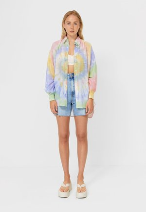 Button-down blouse - multicolour