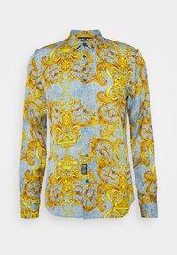 Versace Jeans Couture - PRINT BAROQUE - Shirt - azzurro scuro - 4