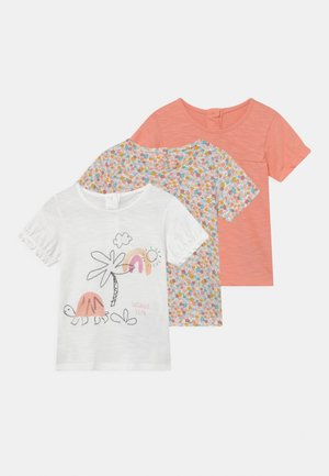 BABY TORTOISE 3 PACK - T-shirt print - coral/off-white