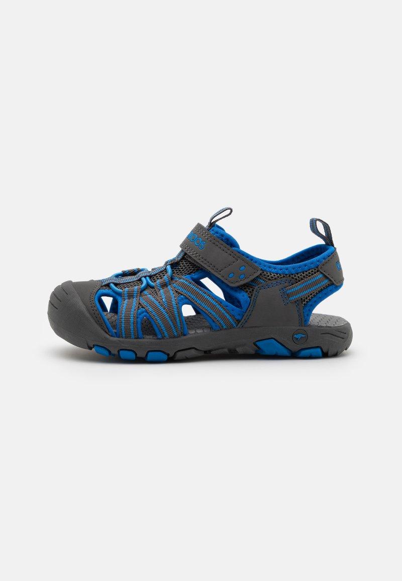 KangaROOS - K-ROAM - Walking sandals - steel grey/brilliant blue