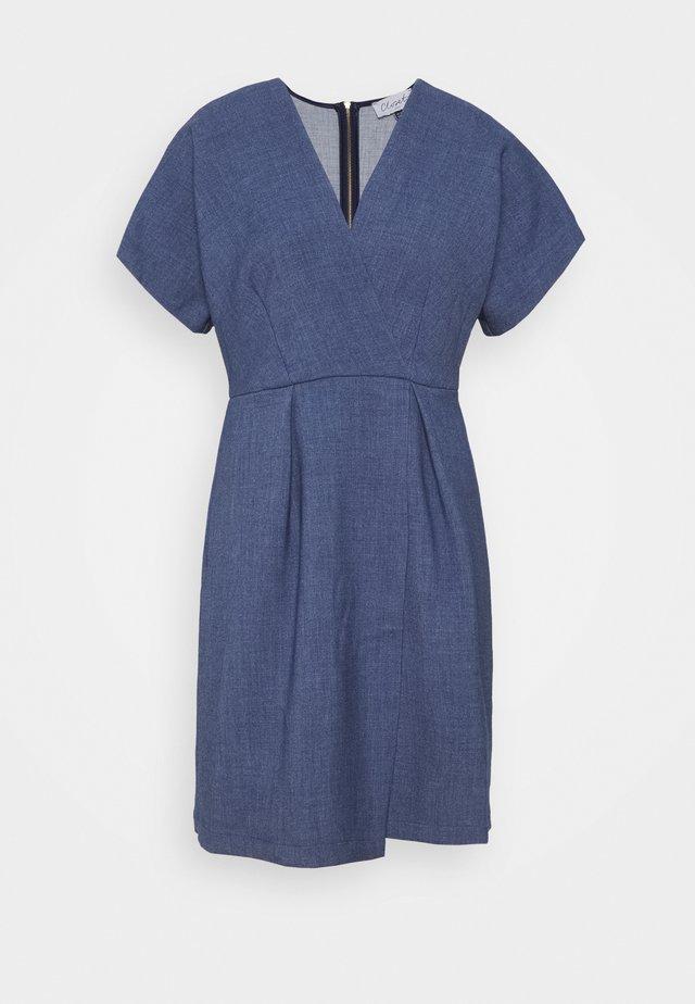 CLOSET KIMONO MINI DRESS - Sukienka letnia - denim