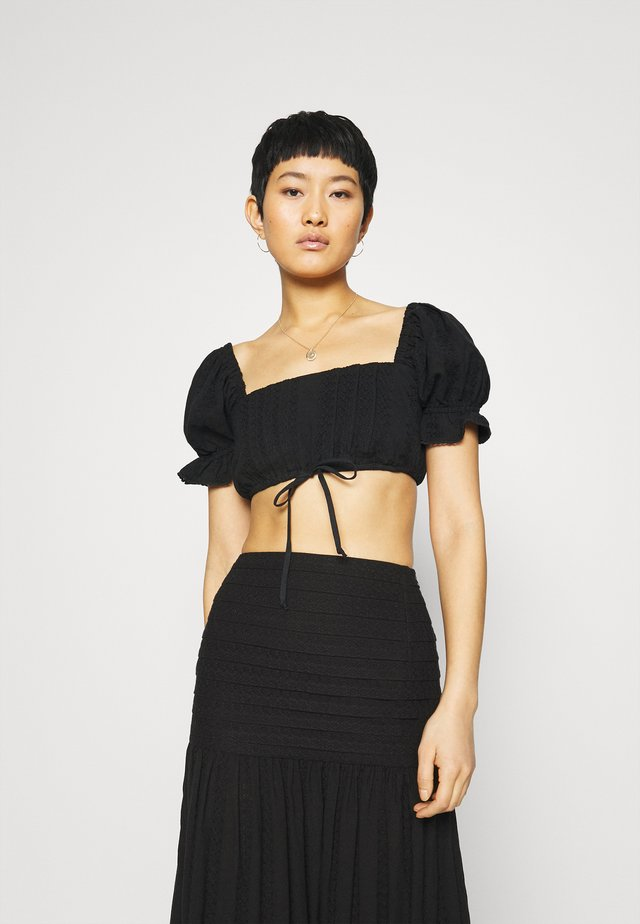ELODIE CROP - Toppi - black