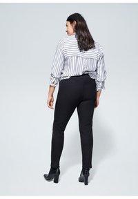 Violeta by Mango - ELASTIC - Trousers - black - 2