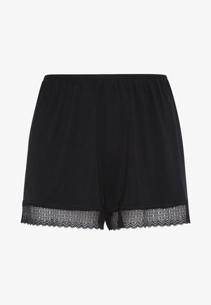 SHORTS IM DESSOUS-LOOK MIT GEOMETRISCHER SPITZE 30102697 - Pyžamový spodní díl - black