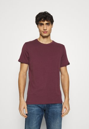 BASIC CREW NECK TEE - T-shirt - bas - dusty wildberry red