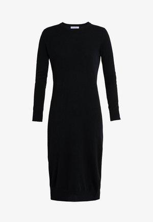 CREW NECK DRESS - Gebreide jurk - black
