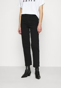Levi's® - RIBCAGE STRAIGHT ANKLE - Vaqueros rectos - black heart - 0