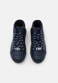Emporio Armani - High-top trainers - dark blue - 3