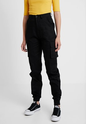 PLAIN TROUSER - Kangashousut - black