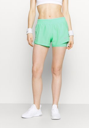 10K SHORT - Sports shorts - green glow/wolf grey