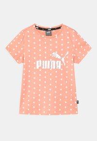 Puma - DOTTED UNISEX - Print T-shirt - apricot blush - 0