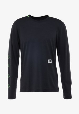 DRY - Sports shirt - black/habanero red/scream green