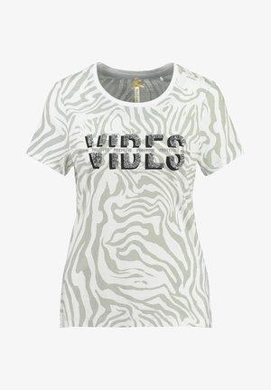 WT CLUB - Print T-shirt - silber