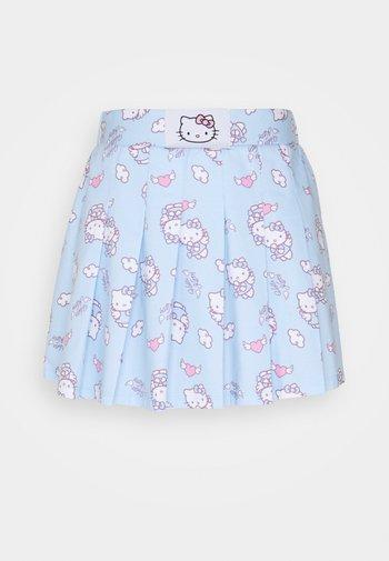 HELLO SKIRT - Mini skirt - blue