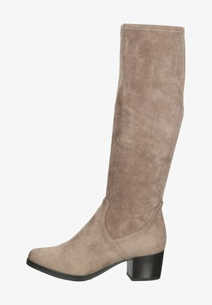 Boots - taupe stretch
