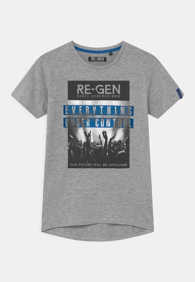 TEEN BOYS - Print T-shirt - grey melange
