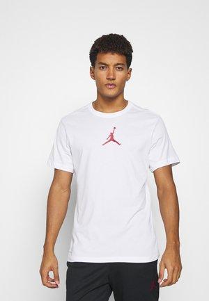 JUMPMAN CREW - T-shirt z nadrukiem - white