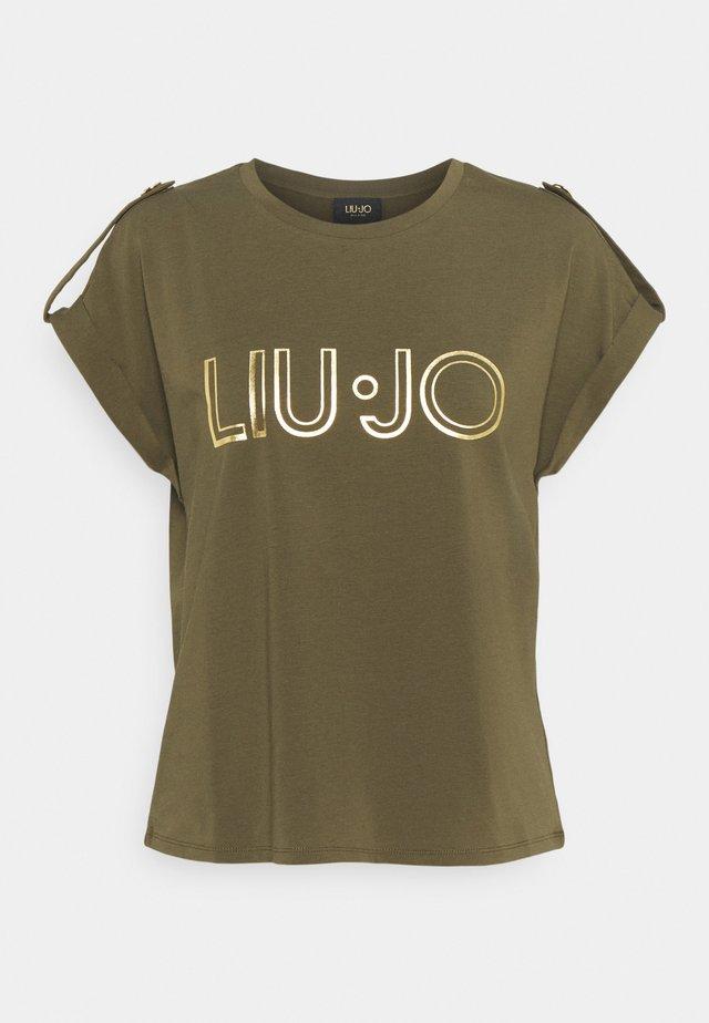 Print T-shirt - feuille verte