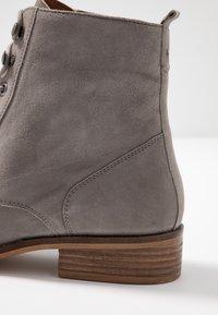 mint&berry wide fit - Šněrovací kotníkové boty - grey - 2