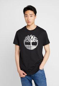 Timberland - TREE LOGO TEE - T-shirt print - black - 4
