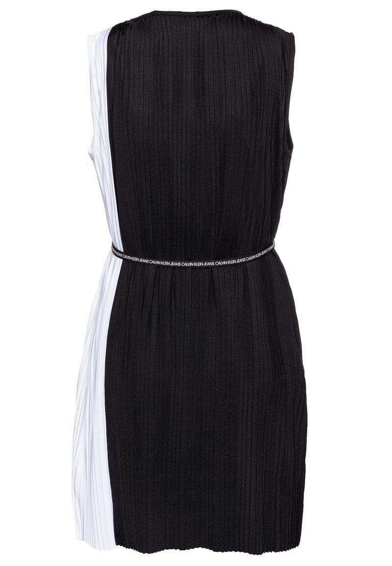 plisse color block dress - cocktailkleid/festliches kleid - black