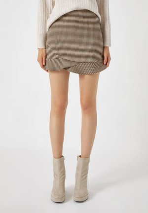 A-line skirt - mottled light brown