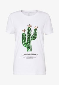 ONLY - ONLKITA LIFE CACTUS BOX - Print T-shirt - bright white - 3