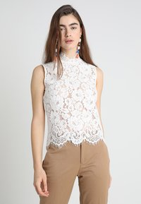 IVY & OAK - STAND UP COLLAR - Blouse - snow white - 0