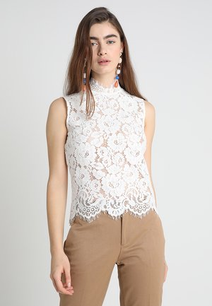 STAND UP COLLAR - Bluse - snow white