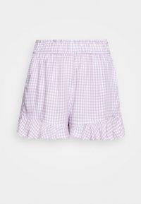 Hollister Co. - CHAIN RUFFLE HEM - Shorts - lavender gingham - 3