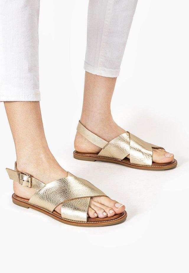 Sandalen - mntrl gold ngl