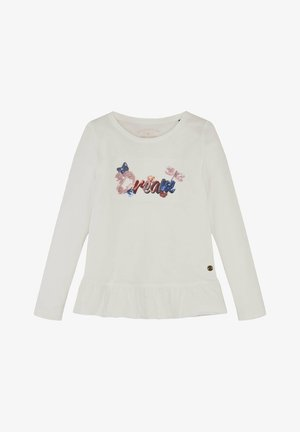 Long sleeved top - cloud dancer|white