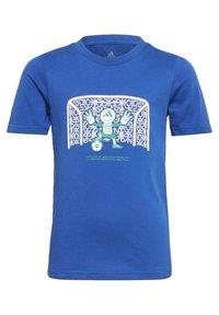 adidas Performance - COTTON T-SHIRT - Print T-shirt - blue - 0