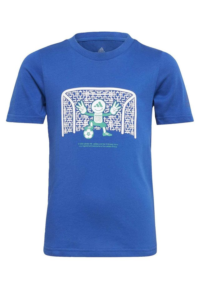 COTTON T-SHIRT - T-shirt z nadrukiem - blue