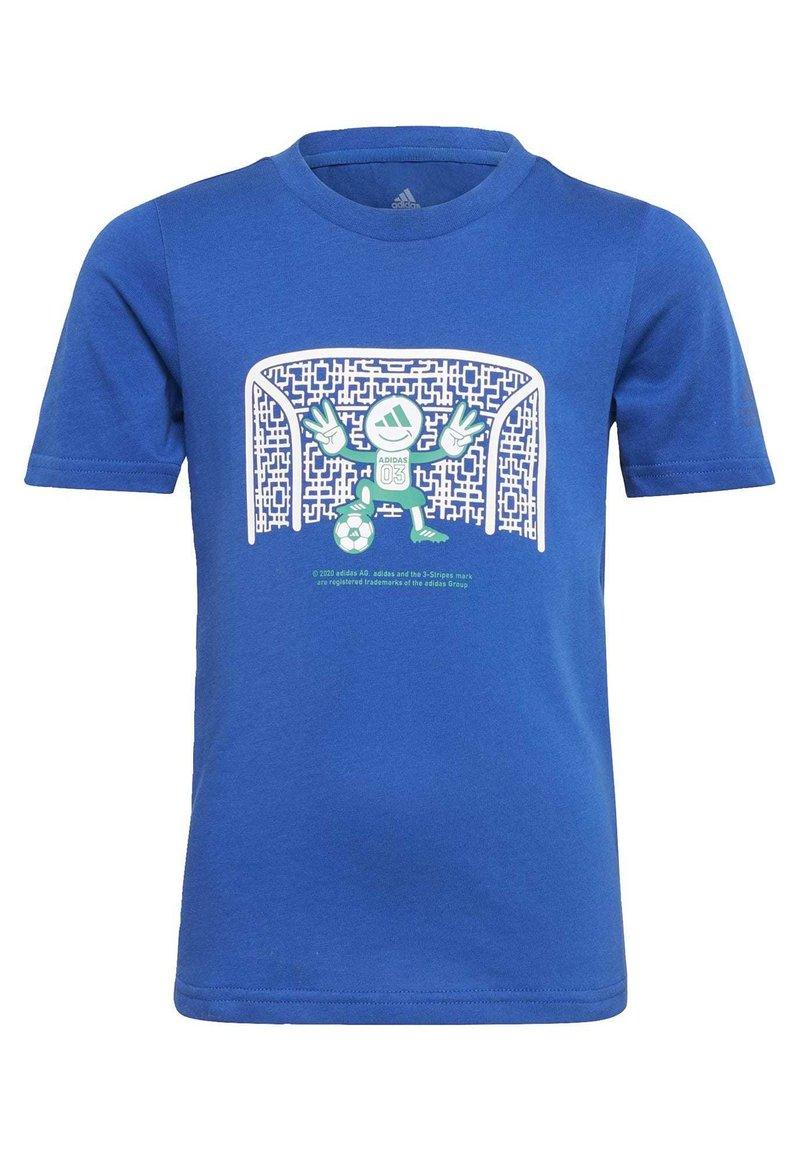 adidas Performance - COTTON T-SHIRT - Print T-shirt - blue