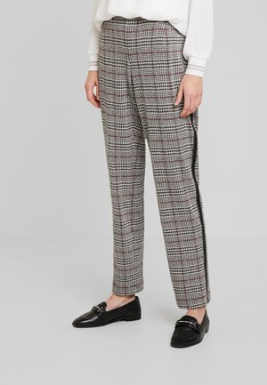 Trousers - black/offwhite/red
