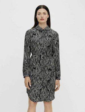 PRINT - Shirt dress - black