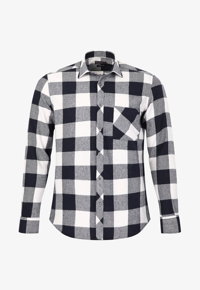 Overhemd - navy-ecru