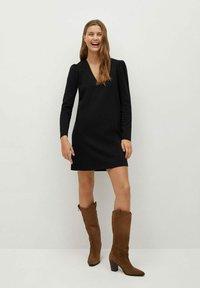 Mango - CAROLINA - Korte jurk - black - 1