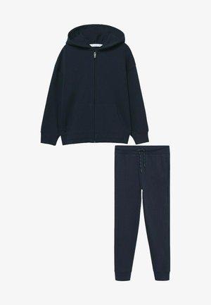 SET - Sweat à capuche zippé - dunkles marineblau