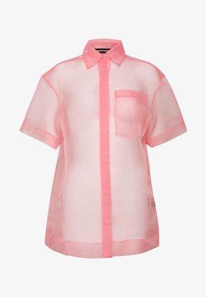 SHEER BOXY - Skjorte - pink