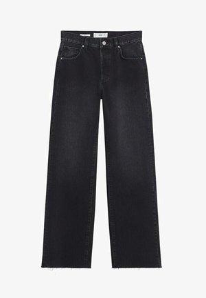 Flared Jeans - black denim