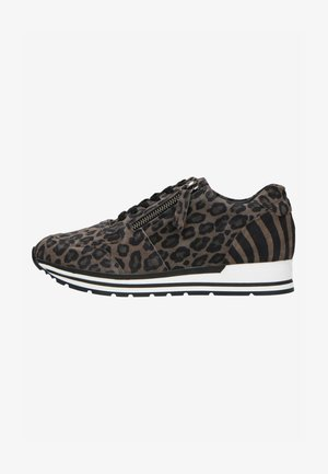 MIT LEOPARDENMUSTER - Trainers - grey
